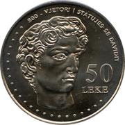 50 Lekë (Michelangelo's David) -  reverse