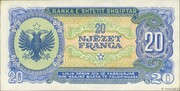 20 Franga – reverse