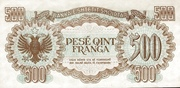 500 Franga – reverse