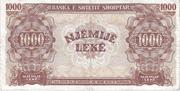 1 000 Lekë – reverse