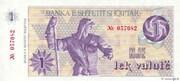 1 Lek valutë – obverse