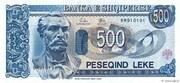 500 Leke – obverse