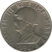 0.50 Lek - Vittorio Emanuele III – obverse