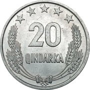 20 Qindarka (25th Anniversary of Albania's Liberation) – reverse