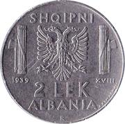 2 Lek - Vittorio Emanuele III -  reverse