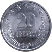 20 Qindarka (25th Anniversary of Albania's Liberation) -  reverse