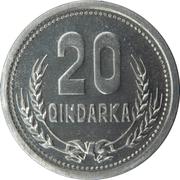 20 Qindarka -  reverse
