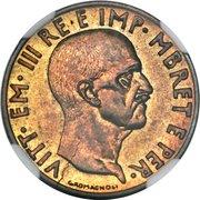0.05 Lek - Vittorio Emanuele III (Italian Occupation; Prova) – obverse