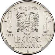 0.20 Lek - Vittorio Emanuele III (Prova) -  reverse