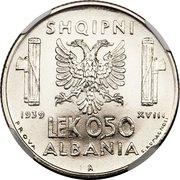 0.50 Lek - Vittorio Emanuele III (Prova) -  reverse
