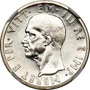 5 Lek - Vittorio Emanuele III (Prova) -  obverse