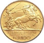 100 Franga Ari (Zog; Prova) -  obverse