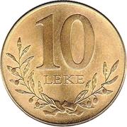 10 Lekë -  reverse