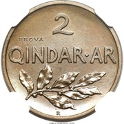 2 Qindar Ari - Zog I (Prova) -  reverse