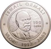 100 Lekë (Albania's Declaration of Independence) -  reverse
