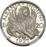20 Franga Ari (Skanderbeg; Prova) -  obverse