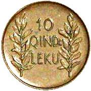 10 Qindar Leku – reverse