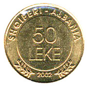 50 Lekë (Albania's Declaration of Independence) -  reverse