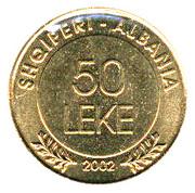 50 Lekë (Albania's Declaration of Independence) -  reverse