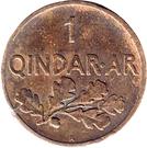 1 Qindar Ar - Zog I – reverse