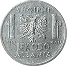 0.50 Lek - Vittorio Emanuele III – reverse