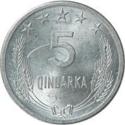 5 Qindarka -  reverse
