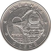 5 Lekë (Albanian Railroads) -  obverse