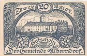 20 Heller (Alberndorf) – obverse