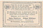 20 Heller (Alberndorf) – reverse