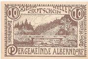 10 Heller (Alberndorf) – obverse