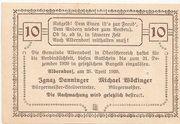 10 Heller (Alberndorf) – reverse