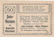 50 Heller (Alberndorf) -  reverse