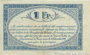 1 franc - Chambres de Commerce du Tarn [81] – reverse