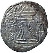 Drachm - Alchon Huns - Tobazini (Sassanian type, Warham IV imitation, Type 32, unknown mint) – reverse