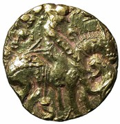 Dinar - Toramana (Lion-slayer type, unknown mint) – obverse