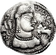 Drachm - Abhimanyu (Gandhara mint) – obverse