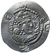 Drachm - Alchon Huns - Countermarked - Anonymous (Sassanian type, Chaganian imitation of Khusro I, Northern Tokharistan mint) – obverse