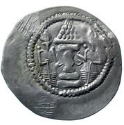 Drachm - Alchon Huns - Countermarked - Anonymous (Sassanian type, Chaganian imitation of Khusro I, Northern Tokharistan mint) – reverse