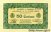 50 centimes - Chambres de commerce d'Alençon et de Flers [61] – obverse