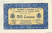 50 centimes - Chambres de commerce d'Alençon et de Flers [61] <Bleu, filigrane> – obverse