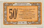 50 centimes - Chambres de commerce d'Alençon et de Flers [61] <Mauve, filigrane abeilles> – reverse