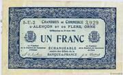 1 franc - Chambres de commerce d'Alençon et de Flers [61] <Bleu, filigrane abeilles> – obverse