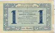 1 franc - Chambres de commerce d'Alençon et de Flers [61] <Bleu, filigrane abeilles> – reverse