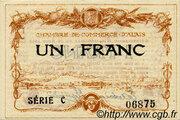 1 franc - Chambre de commerce d'Alais [Alès, 30] – obverse