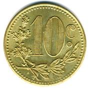 10 Centimes (Alger Chamber of Commerce; Essai) – reverse