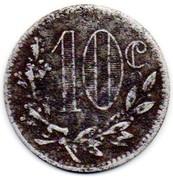 10 Centimes (Alger Chamber of Commerce) – reverse