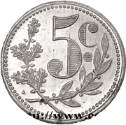 5 Centimes (Alger Chamber of Commerce; Essai) – reverse