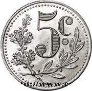 5 Centimes (Alger Chamber of Commerce) – reverse