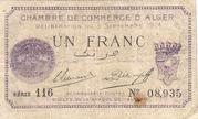 1 Franc CDC Alger – obverse