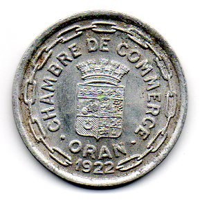 25 centimes oran chamber of commerce algeria numista for Chambre de commerce francaise en italie